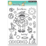Beach Day, Clear Unmounted Rubber Stamp Set PENNY BLACK- NEW, 30-051