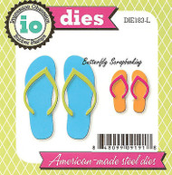 Beach Flip Flops Set American made Steel Dies Impression Obsession DIE183-L New