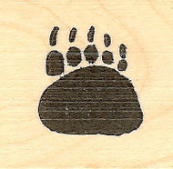 Bear Paw Print, Wood Mounted Rubber Stamp NORTHWOODS - NEW, AA6870