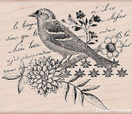 Bird Collage, Wood Mounted Rubber Stamp HERO ARTS - NEW, K5503