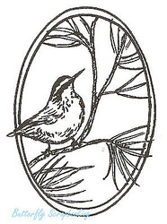 Bird Nut Hatch On Pine Wood Mounted Rubber Stamp Northwoods Rubber Stamp New
