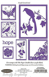 Birds And Butterflies, Cling Unmounted Rubber Stamp STAMPABILITIES, 193763-UM002