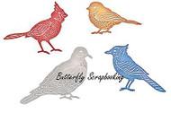 BIRDS Feathered Friends Dies Steel Die Cutting Dies CHEERY LYNN DESIGNS B557 New