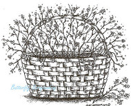 Bittersweet Basket Blossom Wood Mounted Rubber Stamp Northwoods Rubber Stamp New