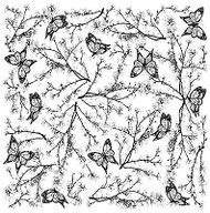 Blossoming Cover A Card Background Unmounted Rubber Stamp Impression Obsession N