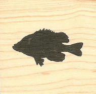 Blue Gill Silhouette, Wood Mounted Rubber Stamp NORTHWOODS - NEW, CC9743