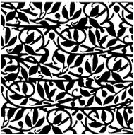 BOLD VINES Cover A Card Background Unmounted Rubber Stamp IO Stamp CC201 New