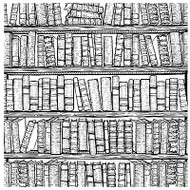 Books Cover A Card Background Unmounted Rubber Stamp Impression Obsession New