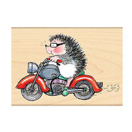 Born Wild Motorcycle, Wood Mounted Rubber Stamp PENNY BLACK - NEW, 4127K