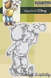Bubble Boy, Cling Style Unmounted Rubber Stamp PENNY BLACK - NEW, 40-229