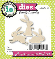 Bunny Rabbits American made Steel Dies by Impression Obsession DIE043-G New