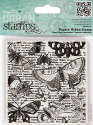 BUTTERFLIES Square Cling Unmounted Rubber Stamp Urban Stamps PMA 907139 NEW