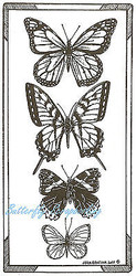 Butterfly Butterflies Wood Mounted Rubber Stamp Northwoods Rubber Stamp New