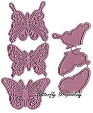 Butterfly Dollies Exotic Dies US made Steel Die Cheery Lynn Designs DL 112AB New
