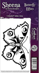 BUTTERFLY EFFECT Cling Unmounted Rubber Stamp SHEENA DOUGLASS SD-BTTFYE-IS New