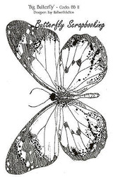 BUTTERFLY Large Detailed Cling Unmounted Rubber Stamp IndigoBlu Stamp BB11 NEW