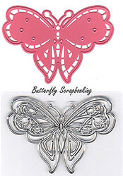 BUTTERFLY Rubber Stamp & Die Set Marianne Design Collectables Die COL1318 New