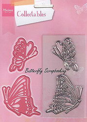 BUTTERFLY Rubber Stamp & Die Set Marianne Design Collectables Dies COL1319 New