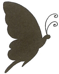 Butterfly Silhouette Side Wood Mounted Rubber Stamp Northwoods Rubber Stamp New