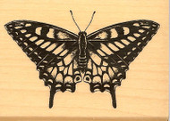 BUTTERFLY Wood Mounted Rubber Stamp INKADINKADO NEW