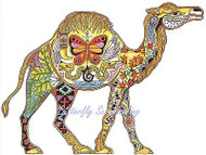 CAMEL Animal Spirit Cling Unmounted Rubber Stamp EARTH ART Sue Coccia New