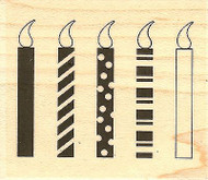 Candles, Wood Mounted Rubber Stamp IMPRESSION OBSESSION - NEW, C14392