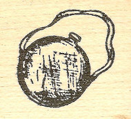 Canteen, Wood Mounted Rubber Stamp NORTHWOODS - NEW, A9791