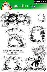 Cat Perrfect D Stamp Set Clear Unmounted Rubber Stamp Set PENNY BLACK 30-027 New