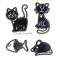 CAT Set 4 Dies Steel Craft Cutting Dies Lin & Lene Design DIE # 1201/0001 New