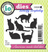 Cat Set 6 Cats American Made Steel Dies by Impression Obsession DIE083-K New