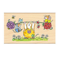 Celebrating Exercise Mice, Wood Mounted Rubber Stamp PENNY BLACK - NEW, 4141K