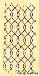 Chainlink Textured, Wood Mounted Rubber Stamp IMPRESSION OBSESSION D13183 New