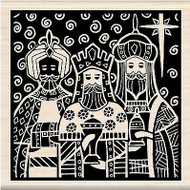 Christmas 3 Kings Wood Mounted Rubber Stamp by INKADINKADO 60-01004 NEW