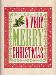 Christmas A Verry Merry Christmas Wood Mounted Rubber Stamp INKADINKADO New