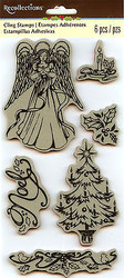 Christmas Angel Noel Unmounted Cling Rubber Stamp Set by Recollections New