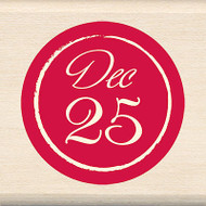 Christmas December 25 Wood Mounted Rubber Stamp INKADINKADO New