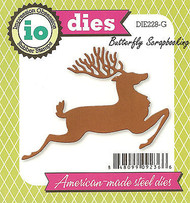 Christmas Deer American made Steel Dies by Impression Obsession DIE228-G New