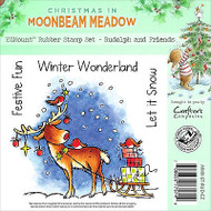 Christmas Deer Rudolph Unmounted Rubber Stamps MOONBEAM MEADOW MMX-ST-RUD-EZ New