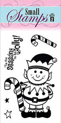 Christmas Elf 5 Small Stamps Clear Unmounted Rubber Stamp Set HOTP 1125 New