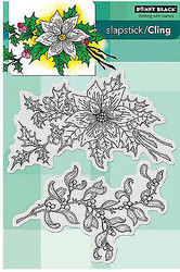 Christmas Festive Florals Set 2 Unmounted Rubber Stamps PENNY BLACK 40-352 New