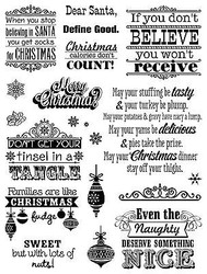 Christmas Naughty Clear Unmounted Rubber Stamp Set HOT OFF THE PRESS 1157 New