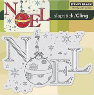 Christmas NOEL Cling Style Unmounted Rubber Stamp PENNY BLACK NEW 40-257