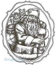 Christmas Old St. Nicholas, Wood Mounted Rubber Stamp NORTHWOODS - NEW, P8752