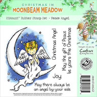 Christmas Peace Angel Unmounted Rubber Stamps MOONBEAM MEADOW MMX-ST-ANG-EZ New