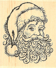 CHRISTMAS Santa Wood Mounted Rubber Stamp Impression Obsession D4190 NEW