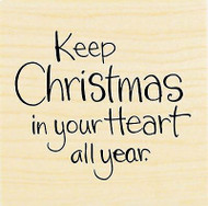 CHRISTMAS Saying In Your Heart Wood Mounted Rubber Stamp STAMPENDOUS D188 New