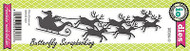 Christmas Sleigh American made Steel Dies by Impression Obsession DIE081-O New