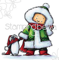 CHRISTMAS SNOW PALS Cling Unmounted Rubber Stamp Stamping Bella MO180 NEW