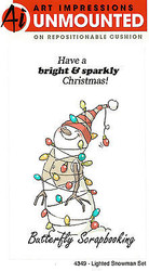 Christmas Snowman Cling Unmounted Rubber Stamps Set AI Art Impressions 4349 NEW