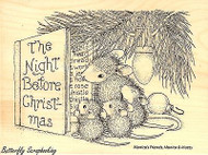 Christmas Story HOUSE MOUSE Wood Mounted Rubber Stamp STAMPENDOUS, NEW - HMR15